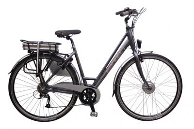 Bikkel iBee SY 28 Inch Dames 9V V-Brake Mat Grijs