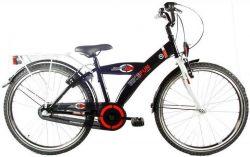 Bike Fun City 24 Inch 36 cm Jongens 3V Terugtraprem Zwart