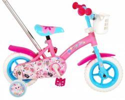 OJO Kinderfiets 10 Inch 18 cm Meisjes Doortrapper Roze/Blauw